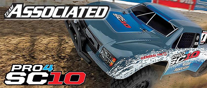 NEW! TEAM ASSOCIATED PRO4 SC10 RTR BRUSHLESS TRUCK