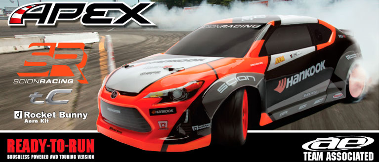 ASSOCIATED QUALIFIER SERIES RTR APEX 4WD SCION RACING DRIFT CAR