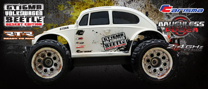 Carisma GT16MB Wide Wheelbase RTR 1/16th Brushless Desert Beetle
