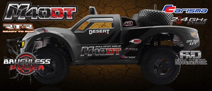 Carisma M40DT RTR 1/10th 4WD Brushless Desert Truck