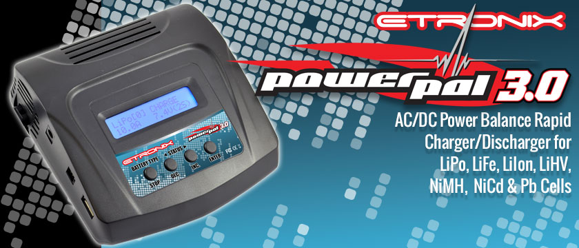 ETRONIX POWERPAL 3.0 AC/DC PERFORMANCE CHARGER/DISCHARGER