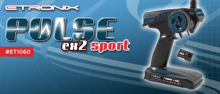ETRONIX PULSE GFSK EX2 SPORT 2.4GHZ WHEEL 2CH RADIO