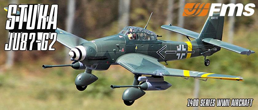 FMS Stuka JU87-G2 1400 Series Electric ARTF WWII Aircraft