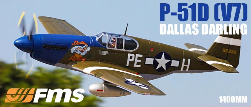 FMS P51 MUSTANG 'DALLAS DARLING' ARTF WARBIRD