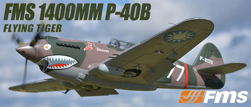 FMS 1400MM P-40B FLYING TIGER SUPER SCALE ARTF WARBIRD