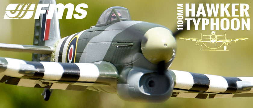 FMS 1100MM HAWKER TYPHOON ARTF WARBIRD