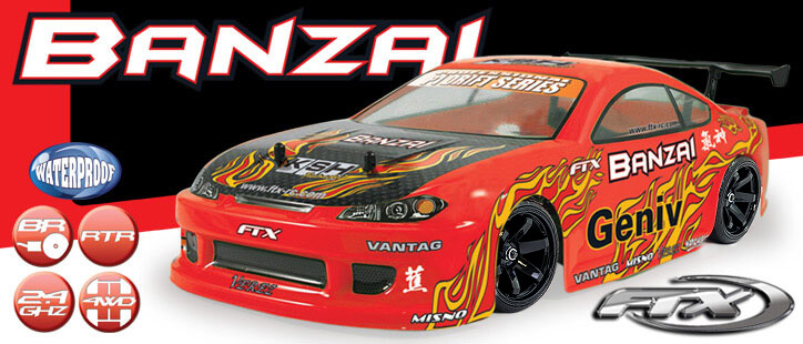 FTX Banzai 1/10th Scale 4WD RTR Brushed Electric Street Drift Car
