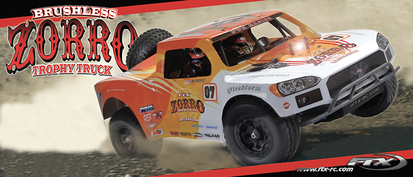 FTX ZORRO 1/10 TROPHY TRUCK EP BRUSHLESS 4WD