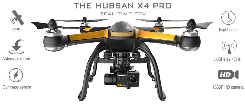 HUBSAN X4 PRO HIGH EDITION FPV DRONE