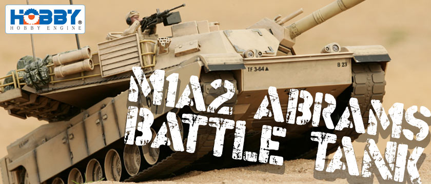 HOBBY ENGINE M1A2 ABRAMS DESERT BATTLE TANK