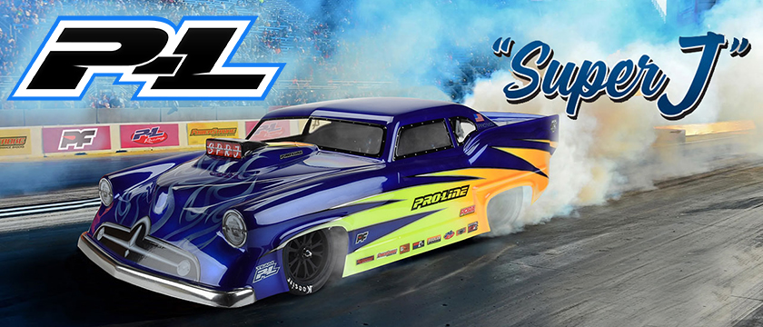 PROLINE SUPER J PRO-MOD CLEAR BODY FOR SLASH 2WD DRAG CAR