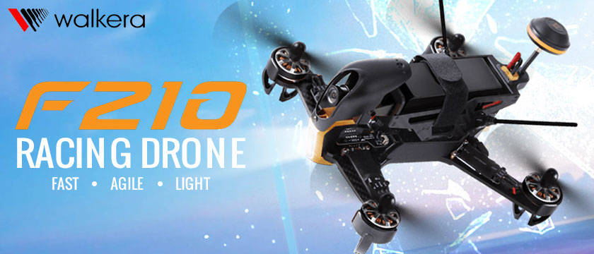 WALKERA F210 READY-TO-FLY RACING DRONE WITH HD CAMERA