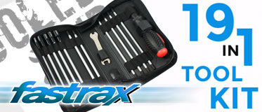 FASTRAX 19-IN-1 TOOL BAG 3XSLOT, 3X PH 6XHEX, 4XNUT 1X 5/8MM WRENCH