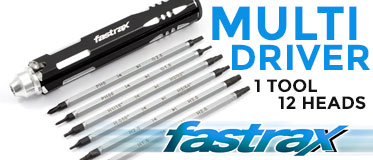 Fastrax Multi Driver Set 2xPH 2xSlot 8x Metric/Imperial Hex