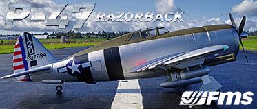 FMS 1500MM P-47 RAZORBACK 'BONNIE' ARTF WARBIRD