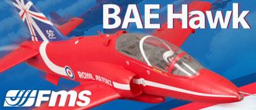 FMS 1042MM RED BAE HAWK 80MM EDF JET