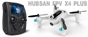 HUBSAN X4+ FPV QUAD 4CH 2.4ghz with ALTITUDE HOLD & LCD TRASNMITTER