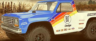 New! 1984 Dodge Ram 1500 Race Truck Clear Body