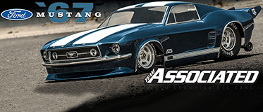 NEW! PROLINE 1967 FORD MUSTANG CLEAR DRAG BODY FOR 22S/DR10