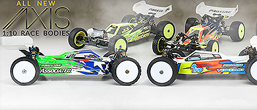 ALL NEW AXIS 1:10 RACING BODIES