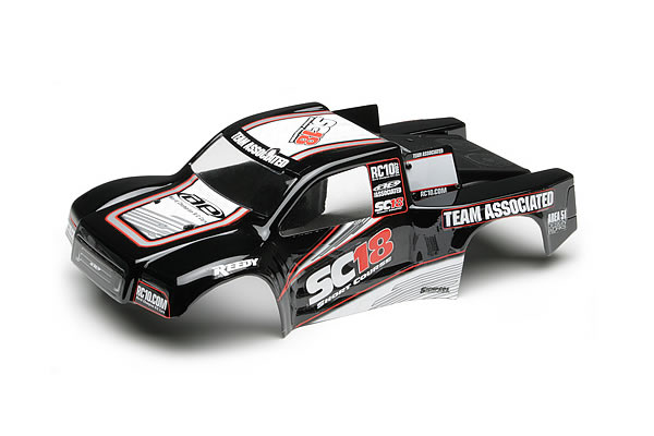 Team Associated SC18 RTR Pre-painted Bodyshell - Black