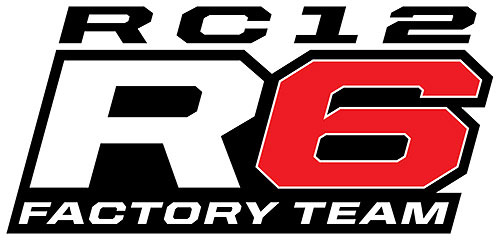 TEAM ASSOCIATED RC12R6 1/12 SCALE FACTORY TEAM KIT LOGO