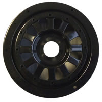 SC8 12 Spoke Wheels (4) - Black