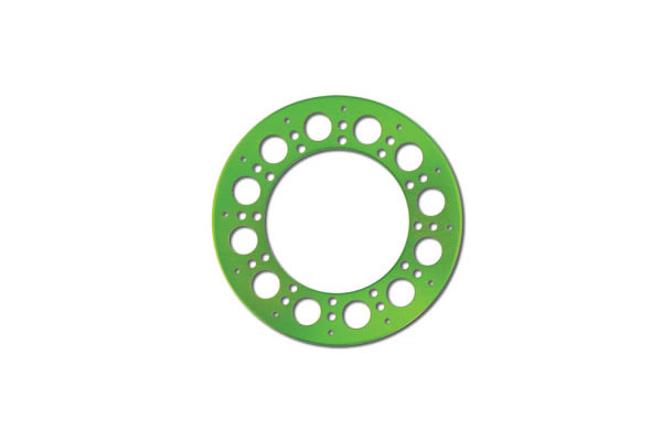 Axial Holey Rollers Bead Lock Rings - Green