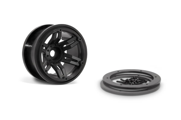 Axial 2.2 Rockster Beadlocks - Black