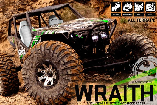 Axial Wraith RTR 1/10th Scale Electric 4WD Rock Racer
