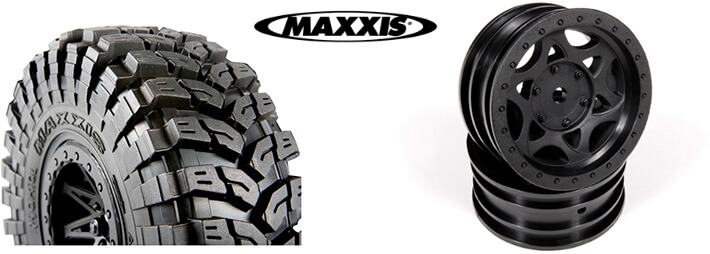 Axial WALKER EVANS BEADLOCK RACING WHEELS and BFGOODRICH KRAWLER KX TIRE