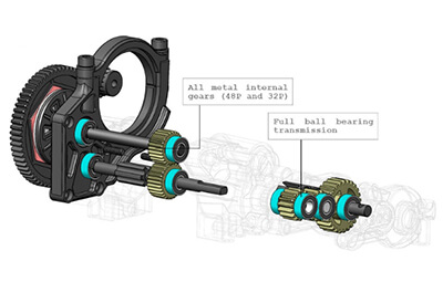 Axial Hi-Lo Gear Box
