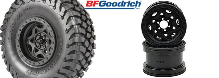 Axial 2.2 Walker Evans Racing Beadlock Wheels and BFGoodrich Baja T/A KR2 Tires