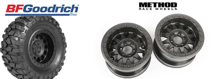 Axial 1.55 Method Beadlock Style Wheels and 1.55 BFGoodrich Krawler Tires