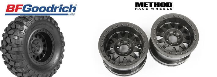 Axial 1.55 Method Beadlock Style Wheels and 1.55 BFGoodrich Krawler Tires
