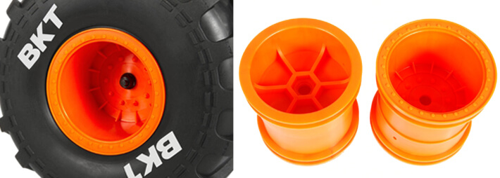 Axial 2.2 Monster Truck Wheels and BKT Monster Jam Tires