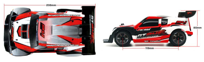 Carisma GT24R Sizes