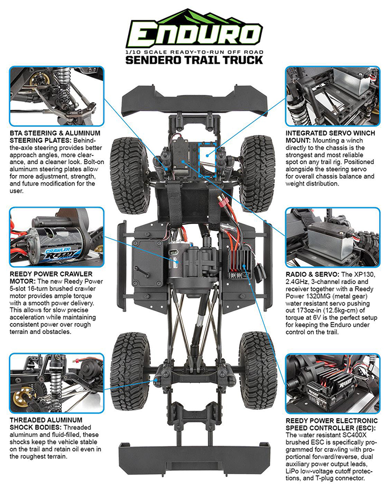 ELEMENT RC ENDURO TRAIL TRUCK SENDERO RTR #EL40100