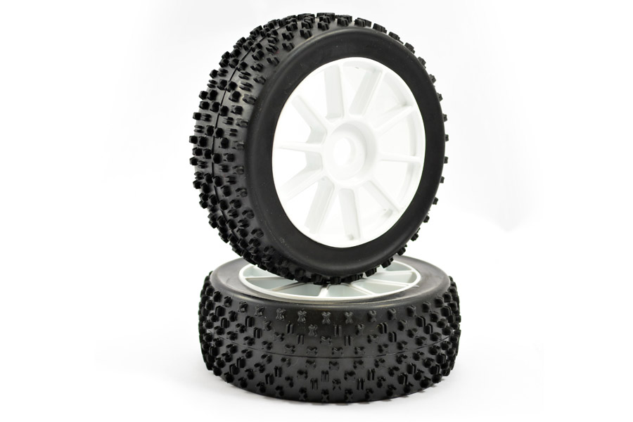 Fastrax 1/8th Buggy Premounted 'Maths' Tyres