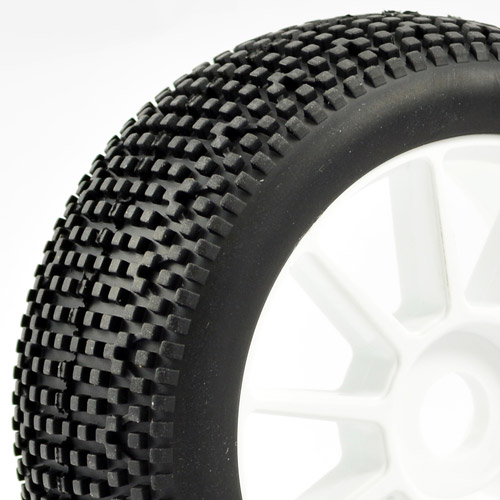 'Cube' 1/8th Off-Road Pre-Mounted Tyres on 10 Spoke Wheels (2)