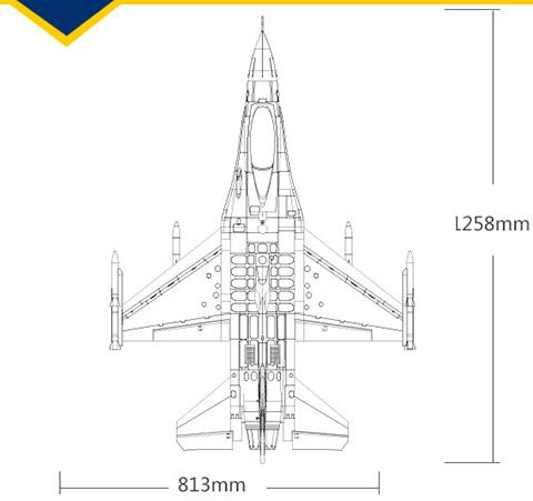 FMS Yak 130 V2 Dimensions