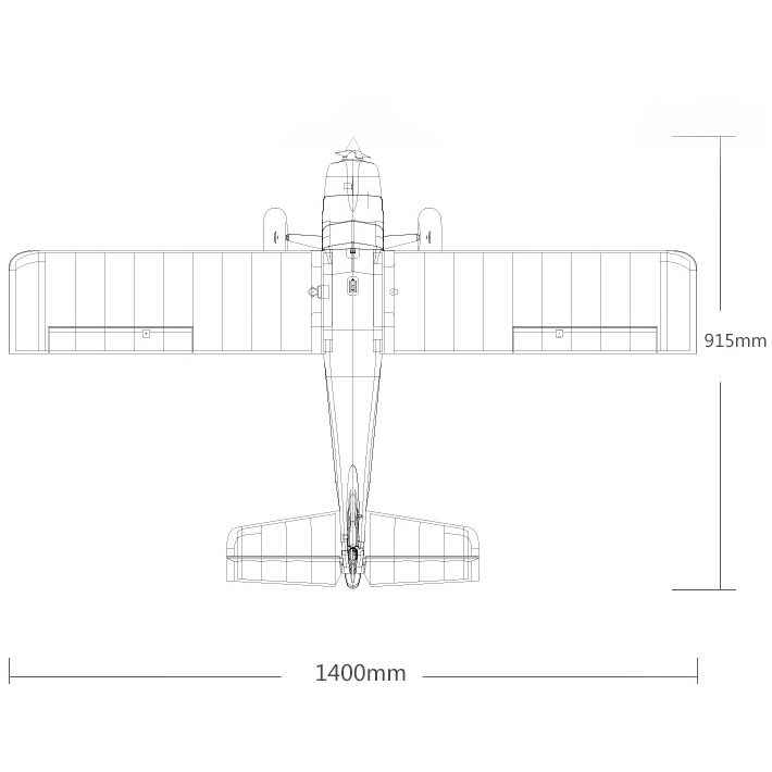 FMS Kingfisher Dimensions