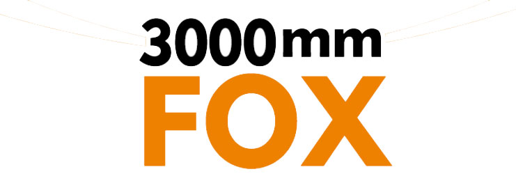 FMS 3000MM FOX GLIDER ARTF w/o TX/RX/BATT LOGO