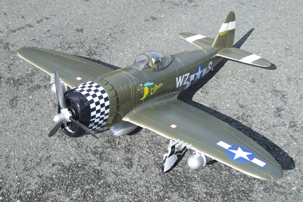 FMS WWII P-47 Thunderbolt 1400 Series Electric ARTF Aircraft with Retract Landing Gear