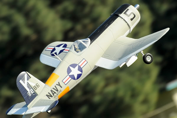 FMS F4U Corsair 1400 Series ARTF with Retracts - Silver