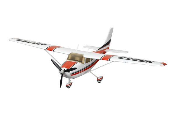 FMS Cessna 182 MK II 1400 Series RTF Electric Aircraft with 2.4ghz Radio System - Red