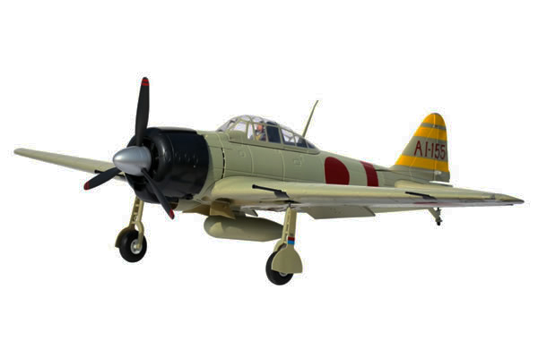 FMS Mitsubishi A6M2 Zero 1400 Series ARTF Electric Warbird with Retract Landing Gear & Flaps