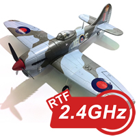 Mini Hawker Tempest 800 Series RTF Electric Warbird with 2.4ghz Radio System