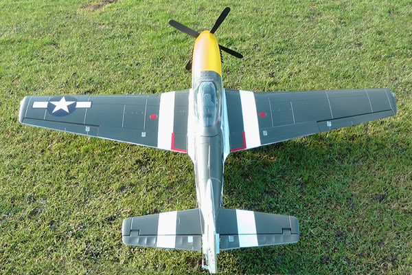 FMS P51 Mustang 1700 Series ARTF Electric Warbird with Retract Landing Gear