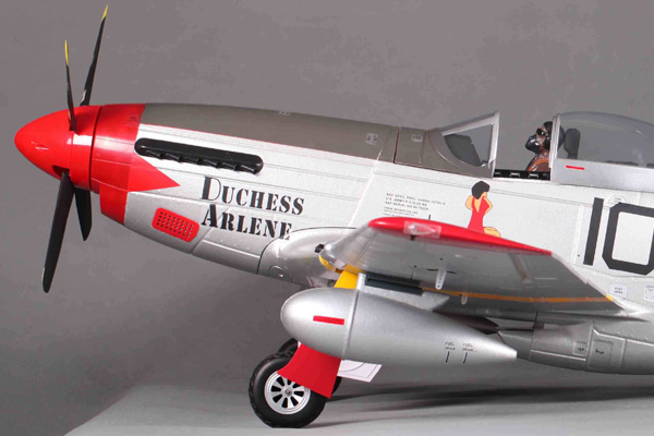 Fms P51 Mustang Artf W Retract W O Tx Rx Bat Red Tail V8